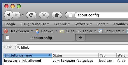 Firefox-Konfiguration